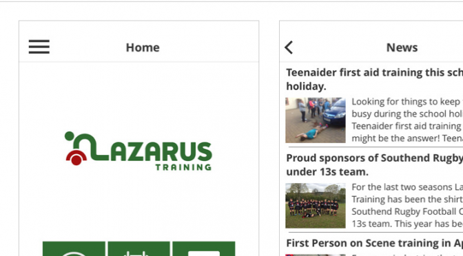 Lazarus Training App for your phone.